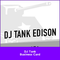 DJ Tank Business Card