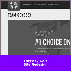 Odyssey Golf Site Redesign