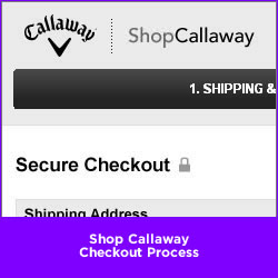 Shop Callaway Checkout Process